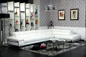 Polaris Sofa Modern Furniture White Leather Sectional Sofa Compact Haven