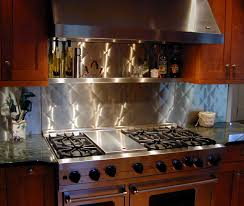 stainless steel backsplashes for kitchens stainless steel backsplash custom traditional kitchen