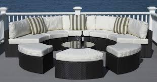 home design elegant round outdoor furniture wicker home design
