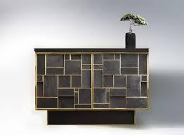 konsole architektur buffet bronze charred wood furniture