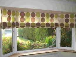 bay window blinds and curtains home decoration