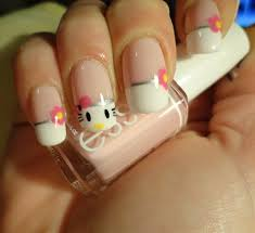 9 cute and easy hello kitty nail art designs with images styles
