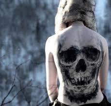 3d skull back ideas designs