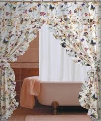 amazon com butterfly floral double swag with valance tie backs