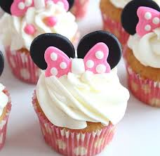minnie mouse ears and bow cupcake by thevintagevanilla on