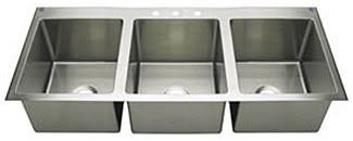 Extra Large Triple Bowl DropInTop Mount Kitchen Sinks - Triple sink kitchen