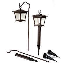 hgtv home set of 2 solar pathway lights with shepherd hooks at hsn