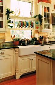 sinks off white cabients cottage style kitchen white tile in
