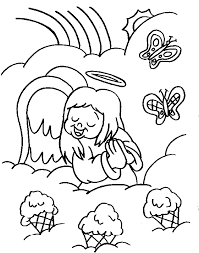 angel coloring pages sun flower pages