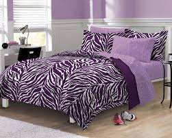 queen size bedding for girls my room zebra complete bed in a bag bedding set purple walmart com
