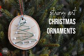 handmade ornaments string ornaments