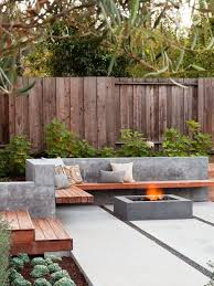 Firepit Garden Wood Benches And Floating Outdoor Benches Home Garden With Firepit