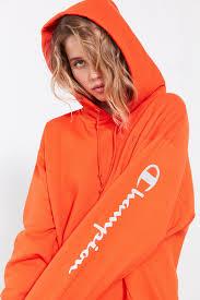 champion u0026 uo powerblend reflective hoodie sweatshirt sweatshirt