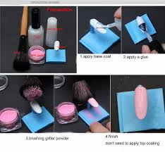 wholesale mix color acrylic nail chrom pigment dipping powder for