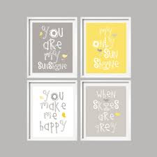 Yellow Baby Room by Sale Yellow And Grey Wall Art Nursery Decor Prints You Are