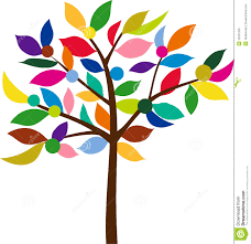 color tree stock vector image of flower leaves botanical 22531205