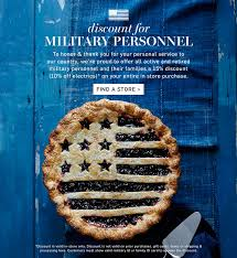 Pottery Barn Gift Card Discount Veterans And Military Personnel Discount Williams Sonoma