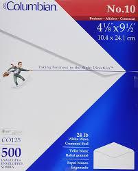 amazon com columbian 10 business envelopes left window 4 1 8