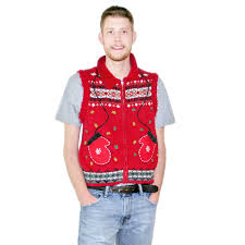 ugly sweater vest cardigan with buttons