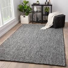 Solid Black Area Rugs Hyde Handmade Solid Black Gray Area Rug 2 X 3 Free Shipping