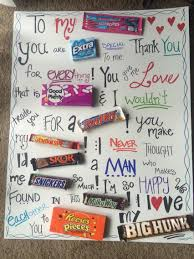 s gifts for boyfriend and sweet candy board i made for my boyfriend for our