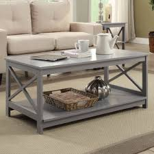 Pictures Of Coffee Tables In Living Rooms Grey Coffee Tables You Ll Wayfair