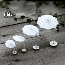 mini white parasol home decor miniature garden ornaments