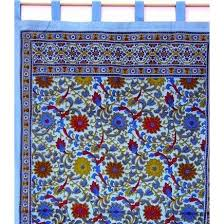 Black Tab Top Curtains Handmade Sunflower Tab Top Curtain Drape Door Panel Navy Gray