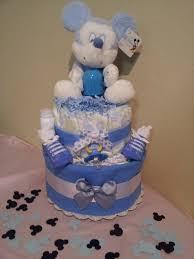 mickey mouse diaper cake great for baby shower centerpiece