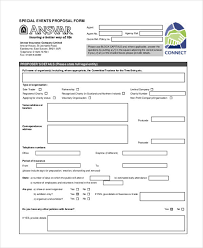 Event Insurance 42 Insurance Proposal Form Example