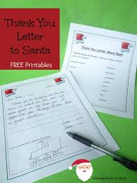 Free Thank You Letter Template Writing Activities Thank You Letters To Santa