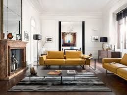 perfect for city home natuzzi tempo sofa in mustard yellow in