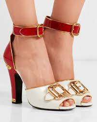 prada embellished patent leather sandals shoes post