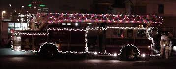 Fire Trucks Decorated For Christmas Hiawatha Fire Department Holiday Parade 2003