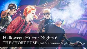 jack clown halloween horror nights jack u0027s recurring nightmare circus the short fuse halloween