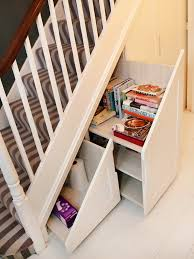 inspiring under stair storage ideas with shelves and space storage