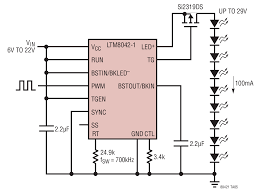solutions ltm8042 boost operation driving 9 white leds at 100ma