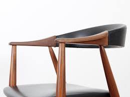 fauteuil bureau vintage scandinavian teak desk chair galerie møbler