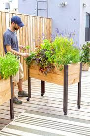 planters vintage style wooden herb planter box diy garden indoor