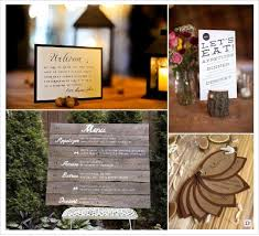 prã sentation menu mariage idees menu présentation mariage automne foret wedding