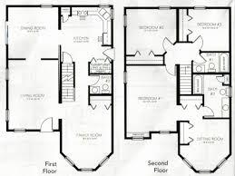 Impressive 4 Bedroom House Plans Uncategorized 2 Story 4 Bedroom Floor Plan Awesome For Elegant 2