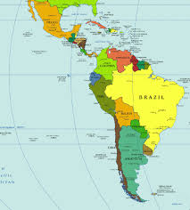 political map of central america and the caribbean map of central america and south throughout and south