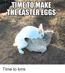 time make easter eggs time to kms easter meme on me me