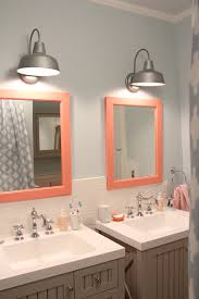 rustic bathroom makeover one room challenge the pink