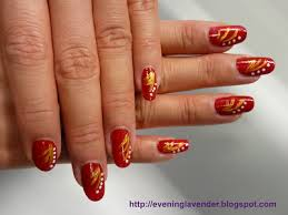 evening lavender nail art design for chinese new year lav 005