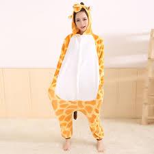 2017 giraffe animal pajamas kigurumi pyjamas sleepwear unisex