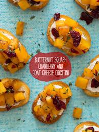 butternut squash recipe for thanksgiving butternut squash cranberry u0026 goat cheese crostini spoon fork bacon