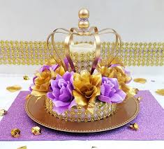 princess baby shower decorations crown lavender and gold baby shower centerpiece royal