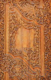 wood carved ornament in a ancient building stock photo image