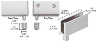 Glass Cabinet Door Hardware Crl Satin Chrome Wide Glass Door Pivot Hinge Package Glass